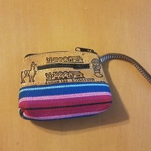 Small Wristlet Coin Purse Peru